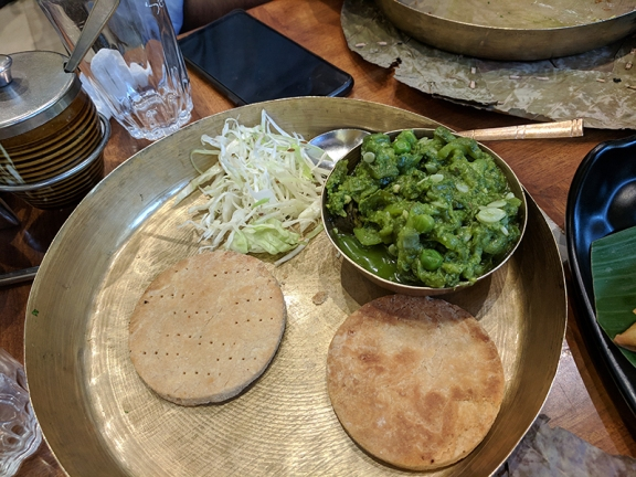 Soam, Turiya paatra with biscuit bhakri