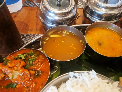 Bagundi, Rasam and mutton pulusu