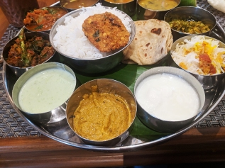 That sesame pachadi at bottom was just excellent.