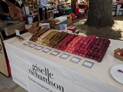 Duke of York's Square Market, Giselle Richardson macarons