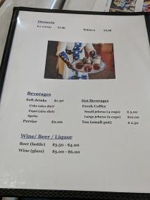 Ghebre's, Menu, Desserts