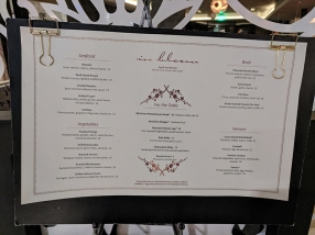 In Bloom, Menu