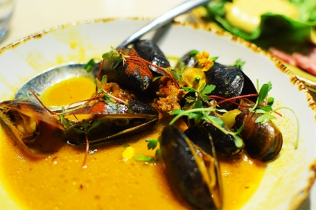 In Bloom, Mussels, chorizo