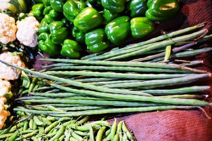 Mangal Bazar, Bell peppers, long beans