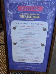 Talli Joe, Theatre Menu