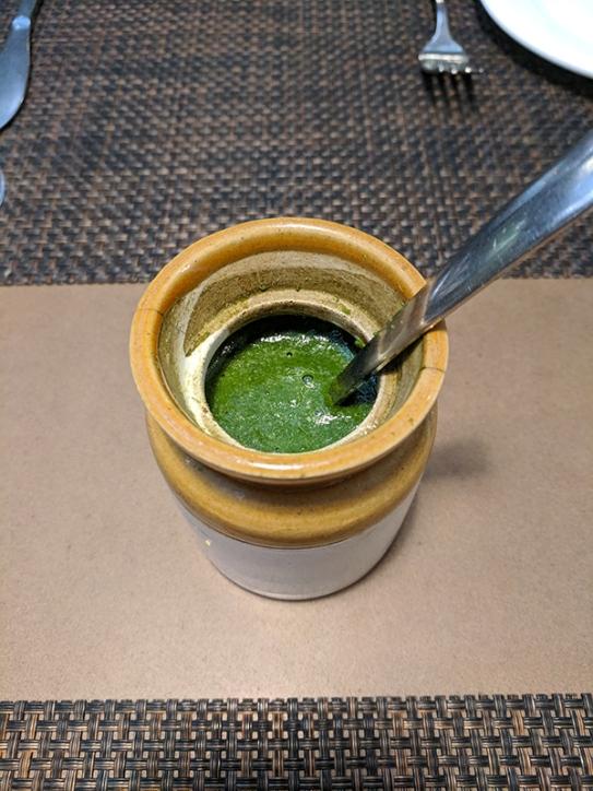 Cafe Lota, Green Chutney