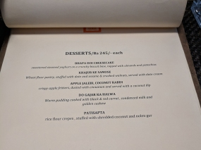 Cafe Lota, Menu, Desserts