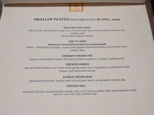 Cafe Lota, Menu, Smaller Plates, Non-Veg