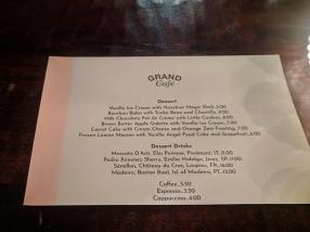 Grand Cafe, Dessert