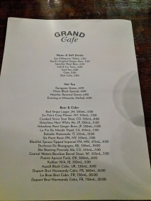 Grand Cafe, Other drinks