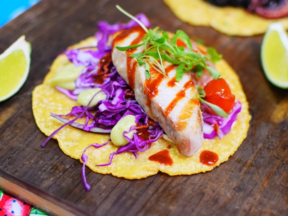 Holbox, Wood-grilled yellowtail