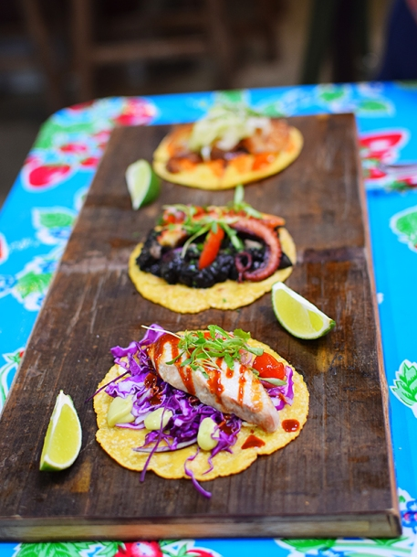 The corn tortillas themselves were very good.