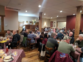 As we were leaving; the smaller dining room we were in was also packed to the gills.