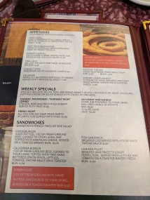 Ranchero Supper Club, Menu, Appetizers