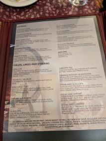 Ranchero Supper Club, Menu, Entrees