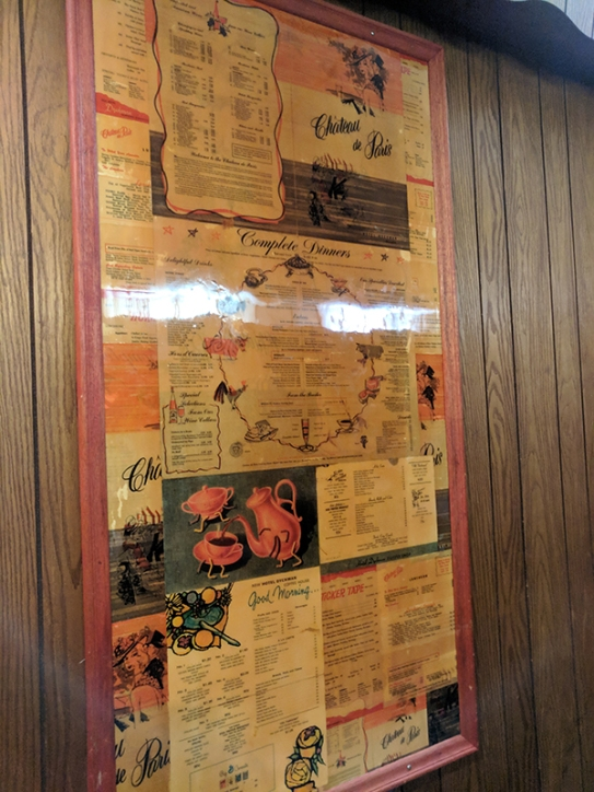 The walls are decorated with these old menus which I found quite charming.