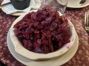 Ranchero Supper Club, Red cabbage