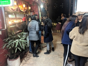 It makes me so happy to see young people gathering to eat chaat.