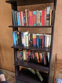 You have to love a restaurant with a bookshelf.