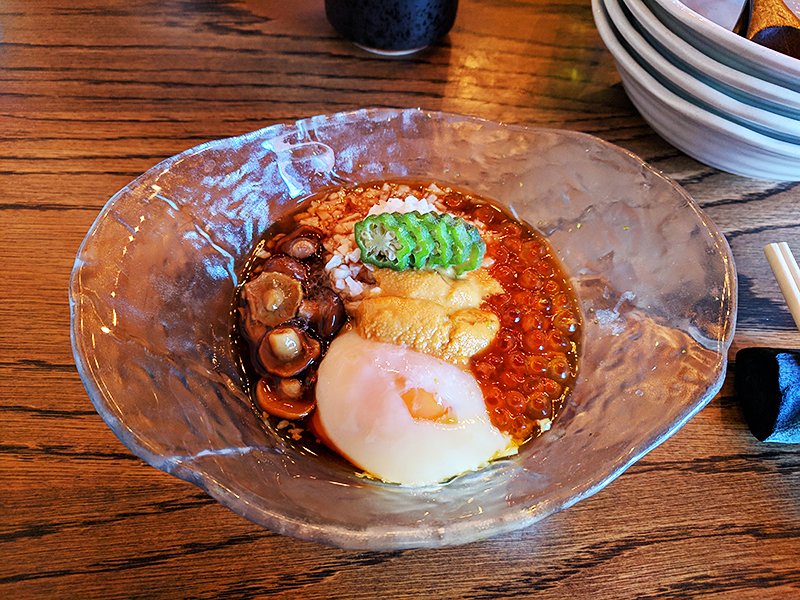raku-dec-2018-poached-egg-with-uni-and-i