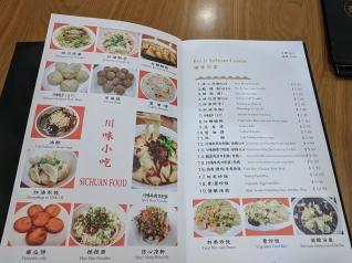 Rui Ji Sichuan, Menu, Sichuan Food