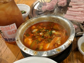 Ahgassi Gopchang, Seafood-tofu jigae