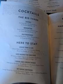 Handsome Hog, Cocktails