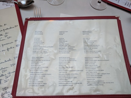 L'Express, Menu-English