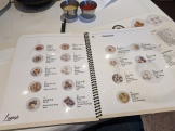 Lunasia, Illustrated menu