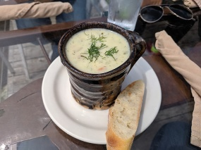 This was the other soup special. This was mine and I quite liked it.