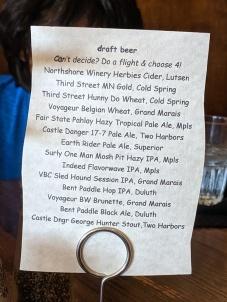 Crooked Spoon, Draft beer