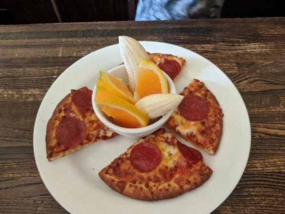 Crooked Spoon, Kids' pepperoni pizza