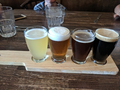 Crooked Spoon, North Shore beer flight