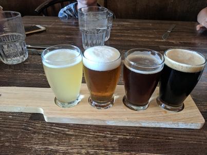 Crooked Spoon, North Shore beer flight