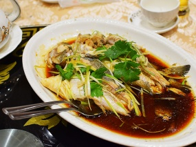Crown Princess, Double steamed sea bass with ginger and onion2