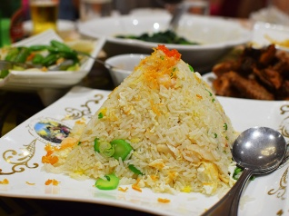 Crown Princess, House seafood fried rice
