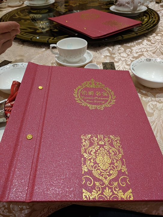 Crown Princess, Menu