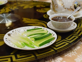 Crown Princess, Peking duck accoutrements