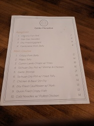 Golden Horseshoe II, Final menu