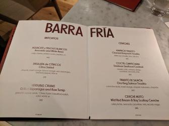 Quetzal, Barra Fria