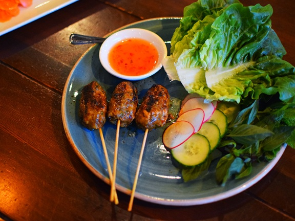 Young Joni, Thai Sausage Skewers
