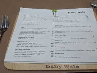 Baby Wale, Drinks