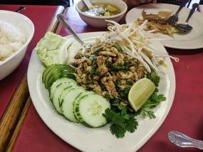 Cheng Heng, Larb, chicken