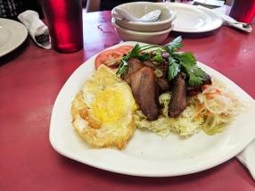 Cheng Heng, Roast pork over rice, egg
