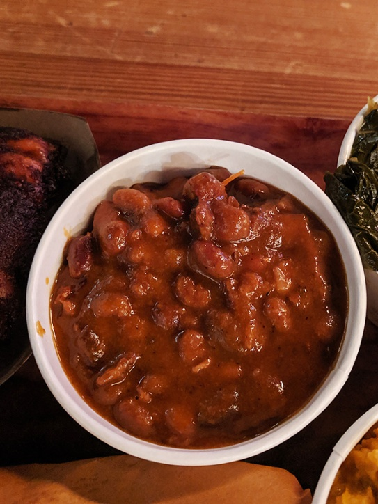 Hill Country, Baked beans with burnt ends