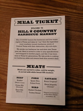 Hill Country, Meal Ticket, Meats