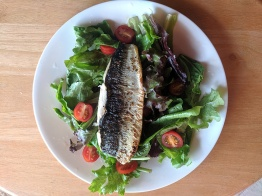 Pan-seared lake herring