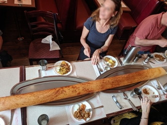 Thanjai, 6 foot dosa