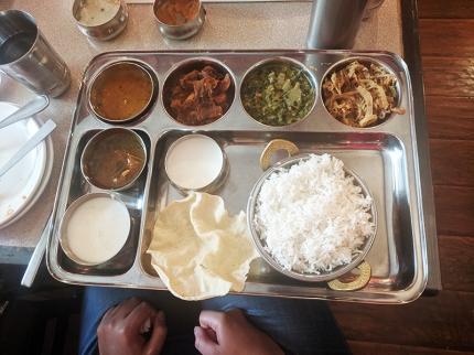 Thanjai, Veg thali