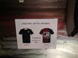 Yakitori Totto, Apparel